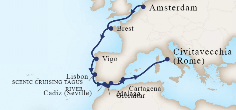 12-Night Iberian Adventure Cruise - Map