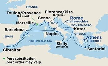 Western Mediterranean and Adriatic Medley - Map