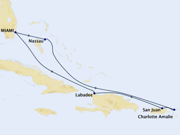 EASTERN-CARIBBEAN-HOLIDAY - Map