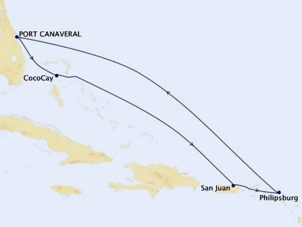 Eastern-Caribbean-Perfect-Day-Cruise-Map