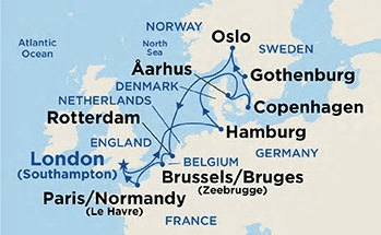 European-Capitals-Cruise - Map