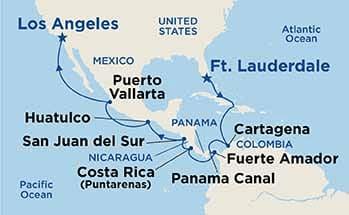 Panama-Canal-Cruise-Map