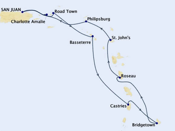 West-Indies-Explorer-Cruise-Map