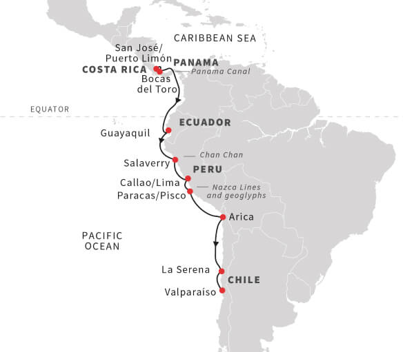 Panama-Canal-and-Andean-Coast-Discoveries-Map
