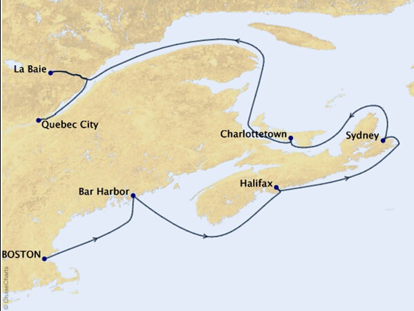 Canada-and-New-England-Cruise-Map