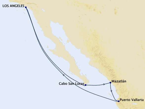 Mexican-Riviera-Cruise-Map